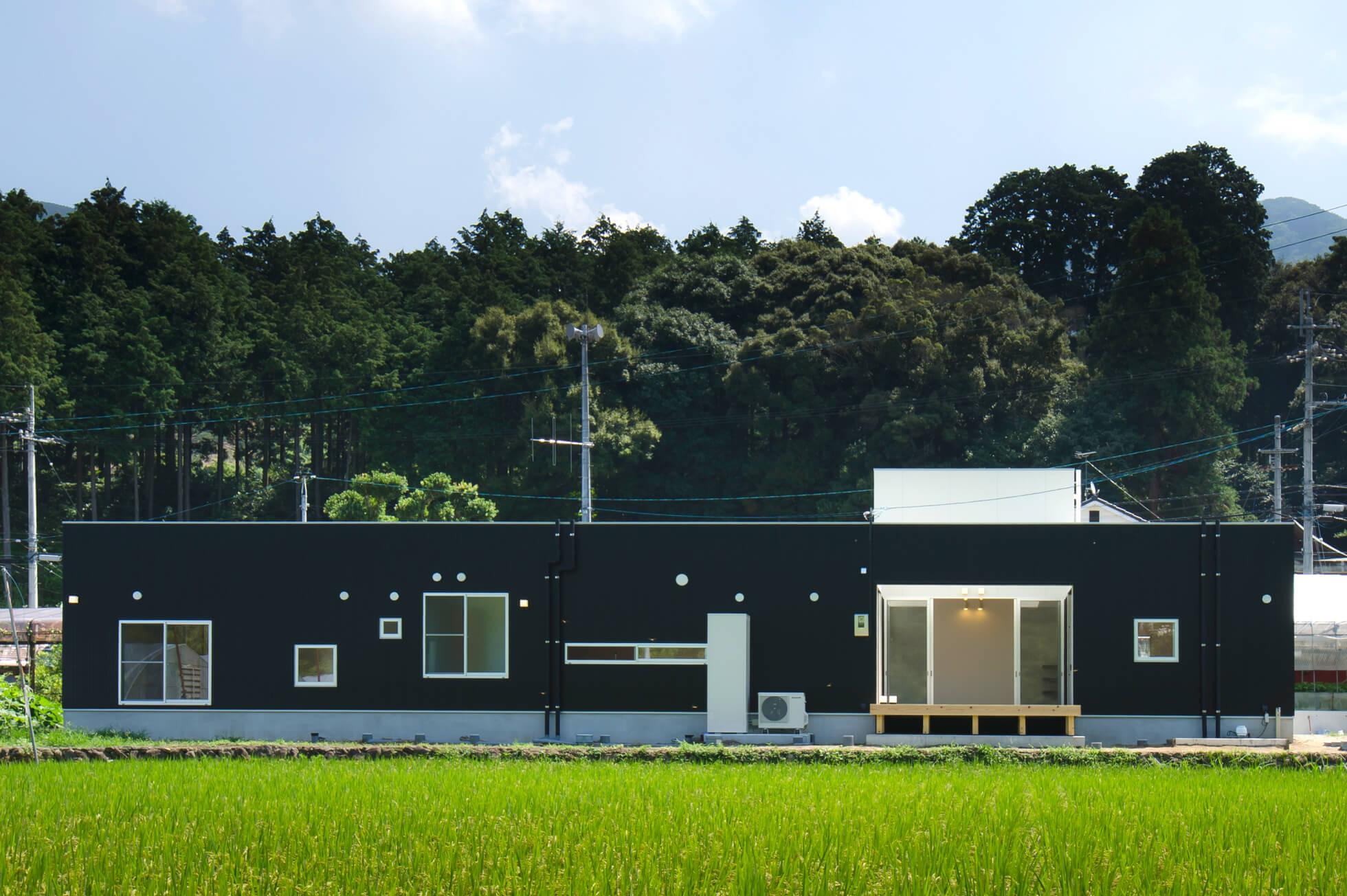 自然と空を感じられる家